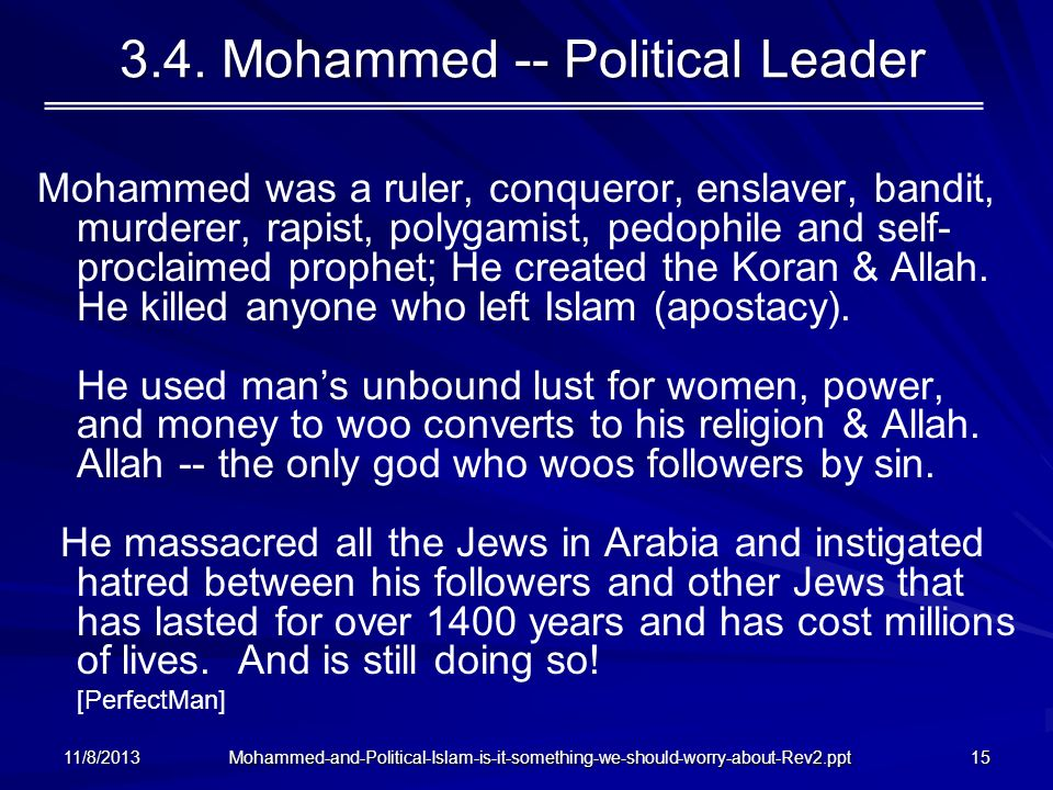3.4. Mohammed -- Political Leader