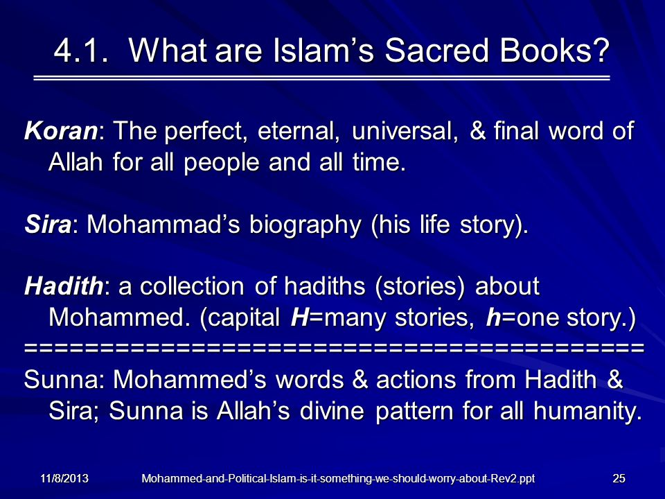 4.1. What are Islam's Sacred Books