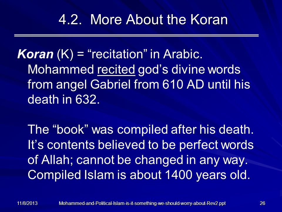 4.2. More About the Koran