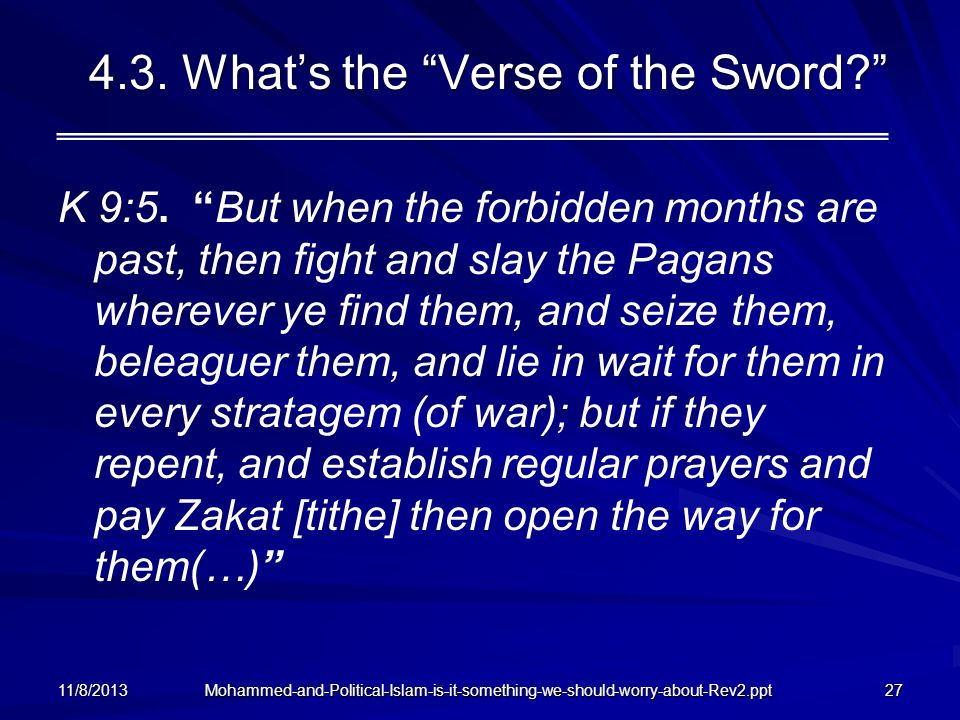4.3. What's the Verse of the Sword