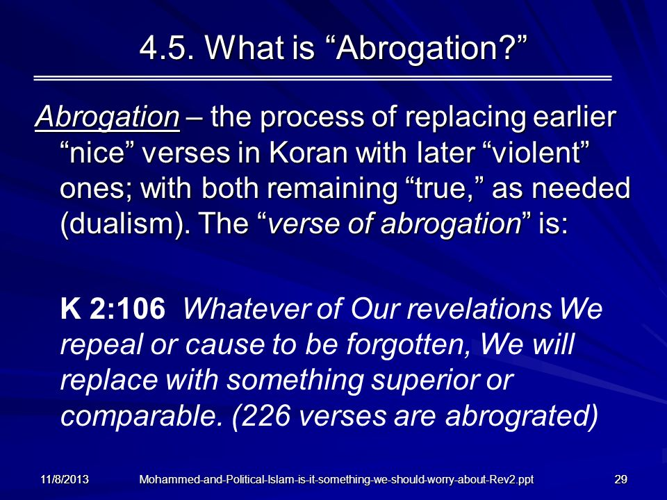 4.5. What is Abrogation