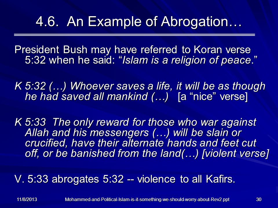 4.6. An Example of Abrogation…