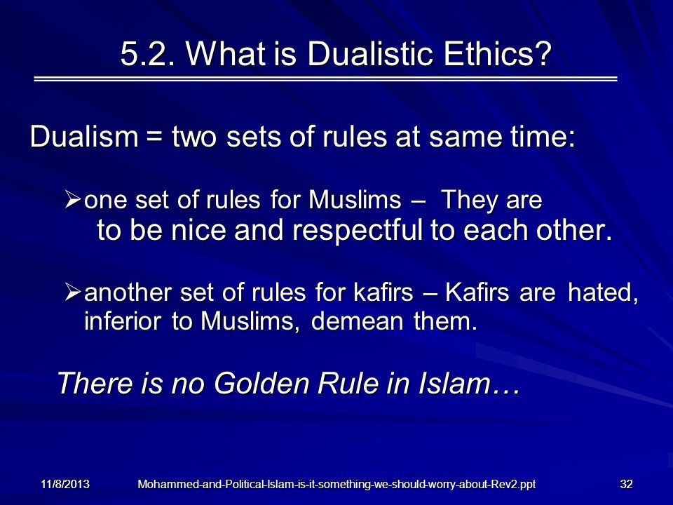 5.2. What is Dualistic Ethics