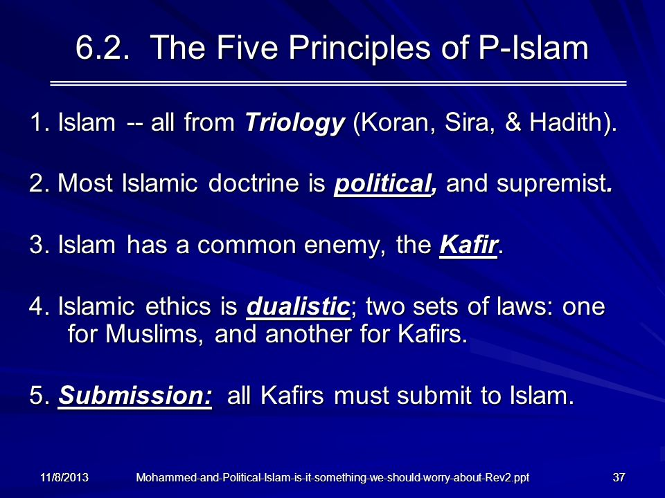 6.2. The Five Principles of P-Islam