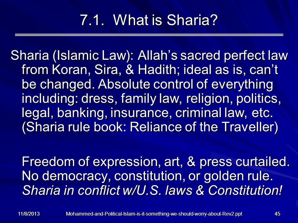 7.1. What is Sharia