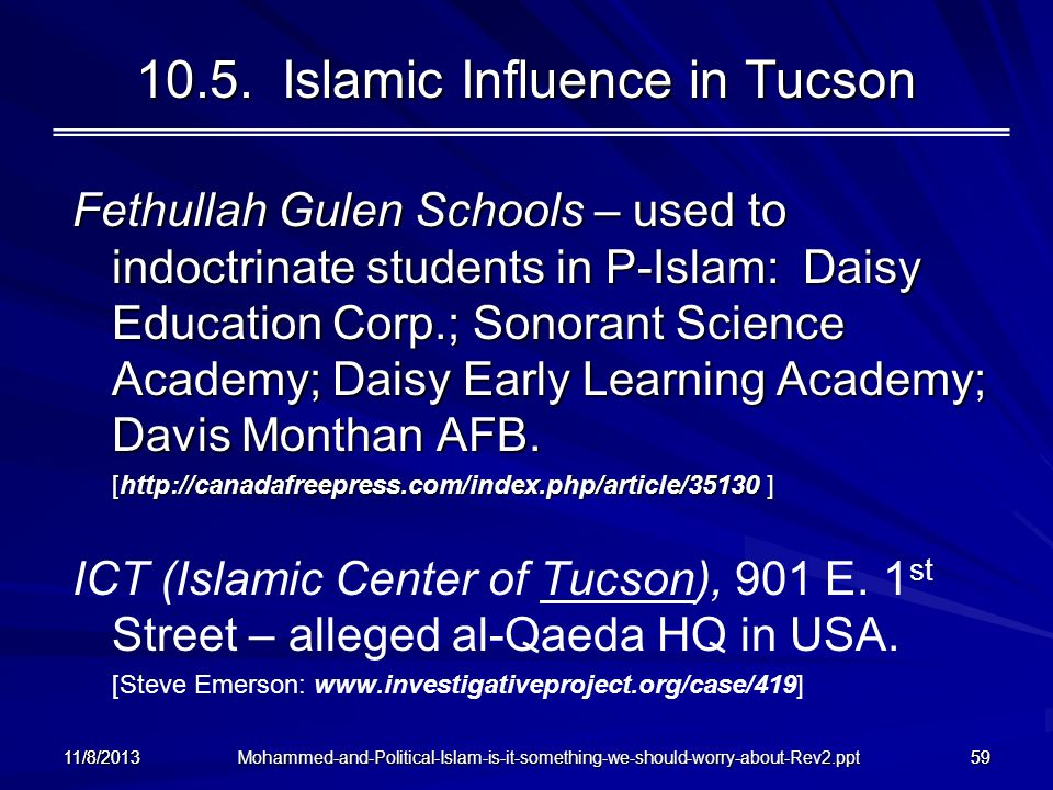 10.5. Islamic Influence in Tucson