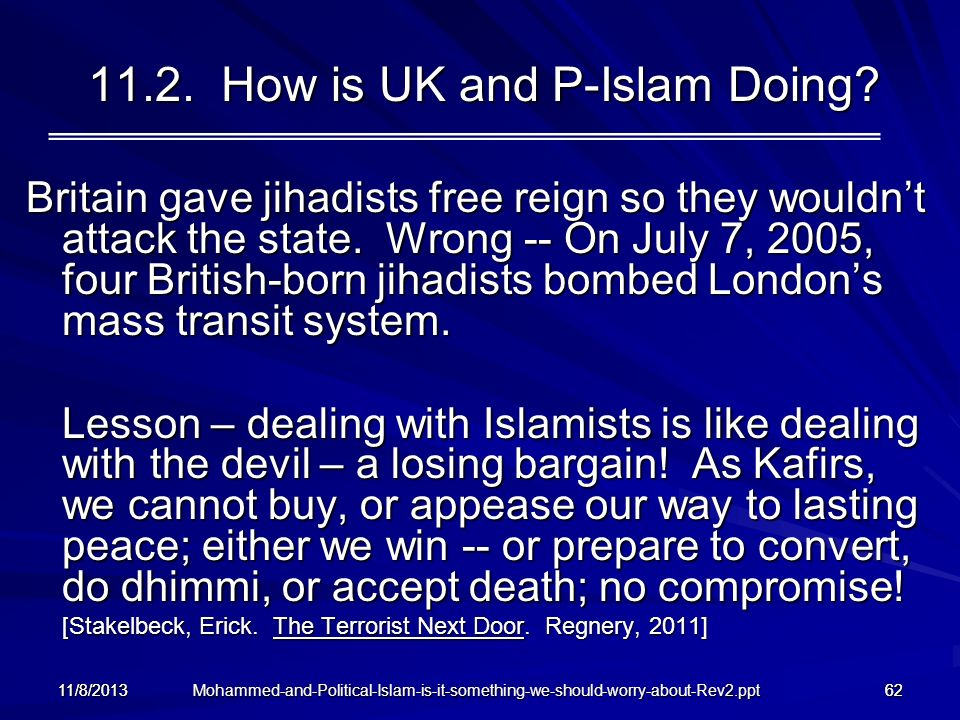 11.2. How is UK and P-Islam Doing