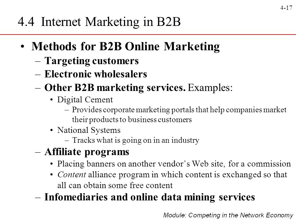 4.4 Internet Marketing in B2B