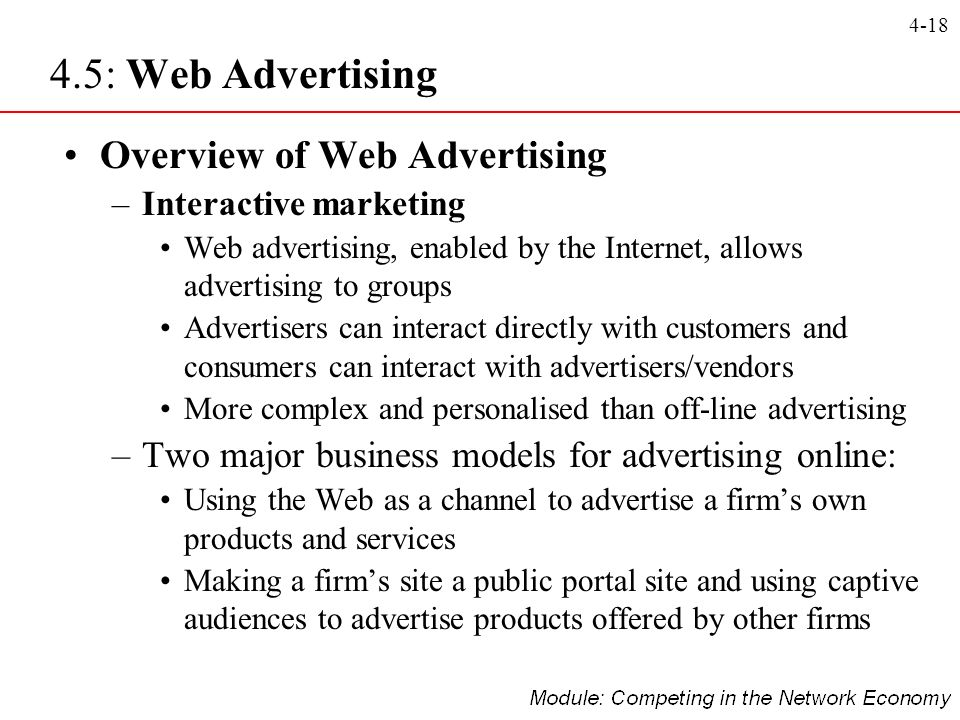 4.5: Web Advertising Overview of Web Advertising