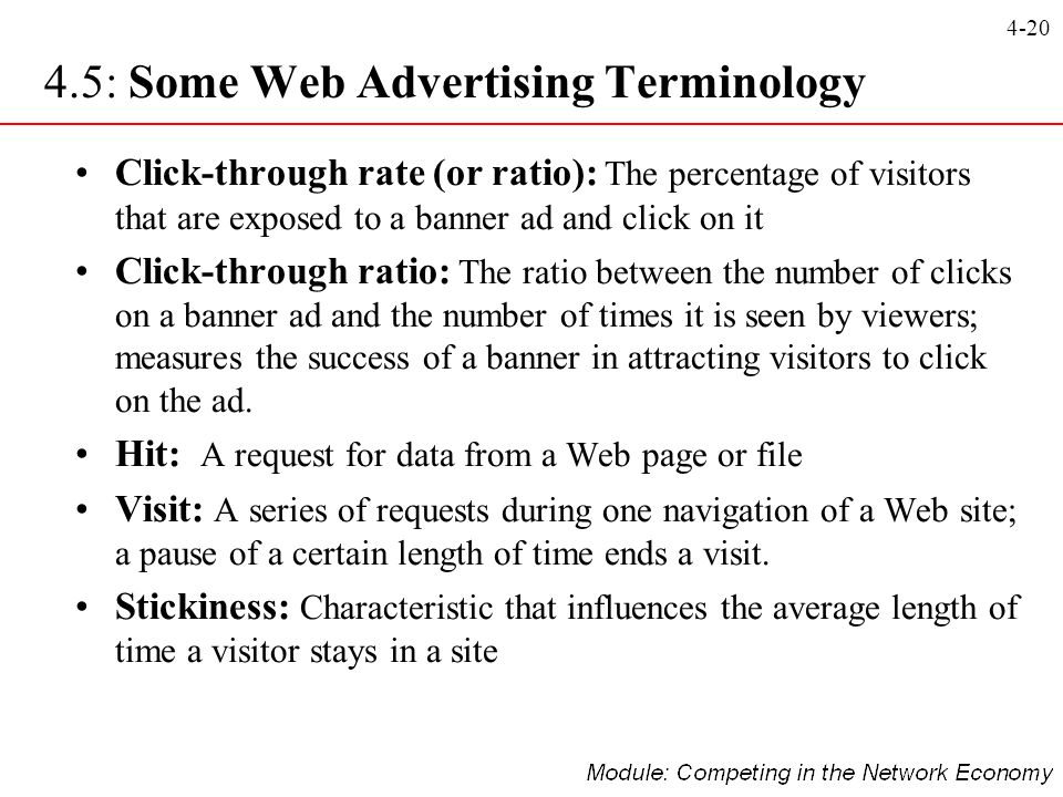 4.5: Some Web Advertising Terminology