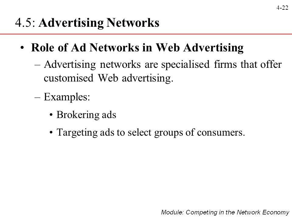 4.5: Advertising Networks
