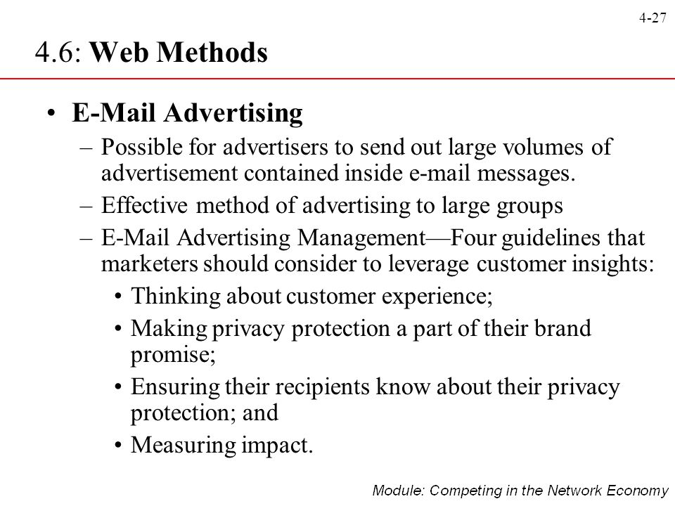4.6: Web Methods E-Mail Advertising
