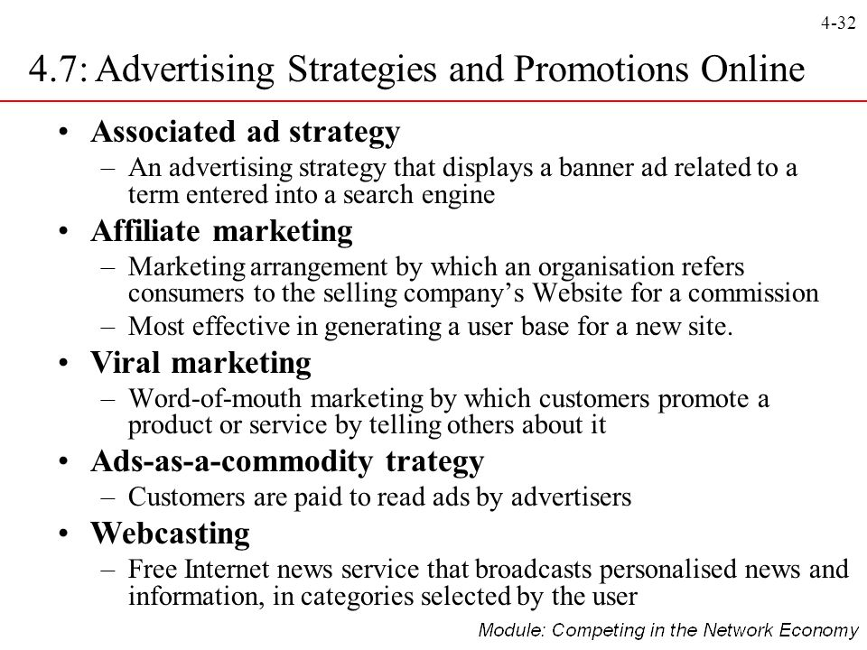 4.7: Advertising Strategies and Promotions Online