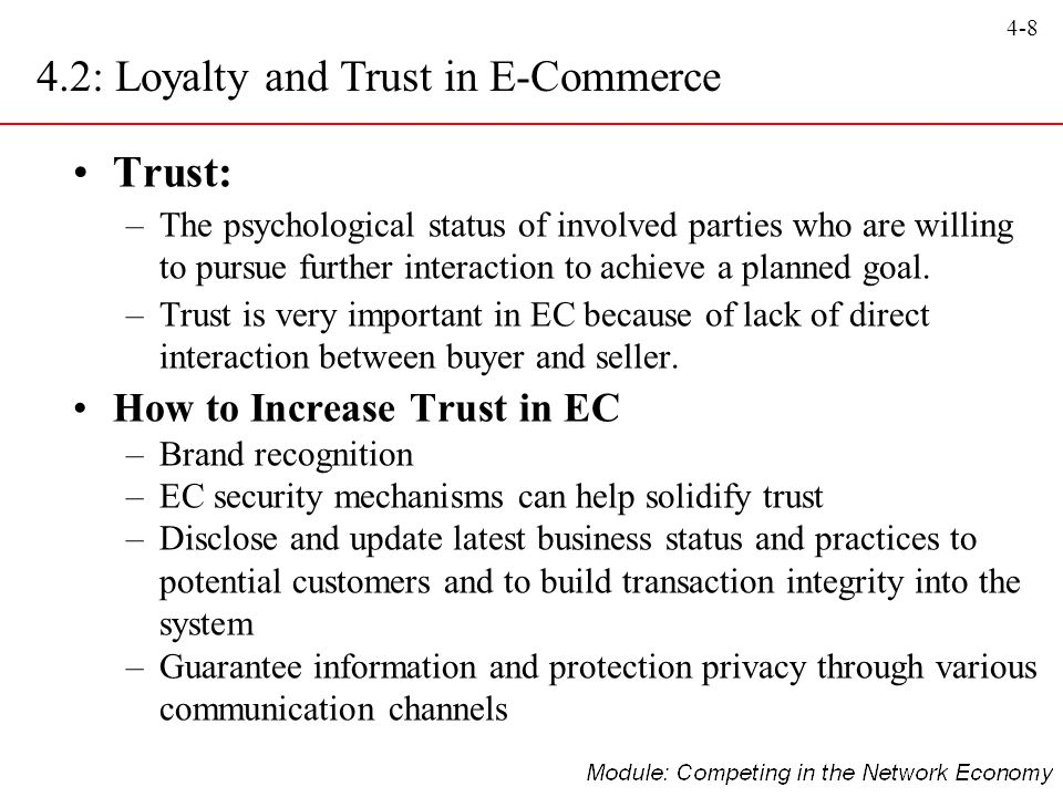 4.2: Loyalty and Trust in E-Commerce