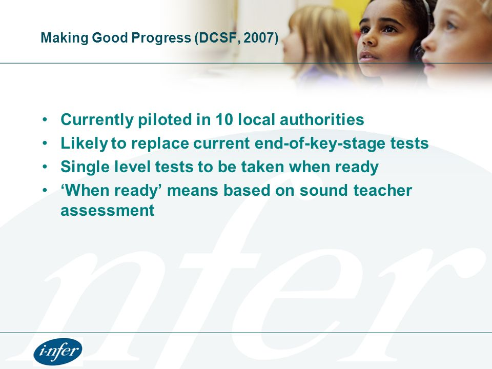 Making Good Progress (DCSF, 2007)