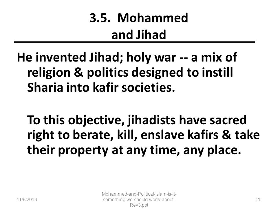 3.5. Mohammed and Jihad