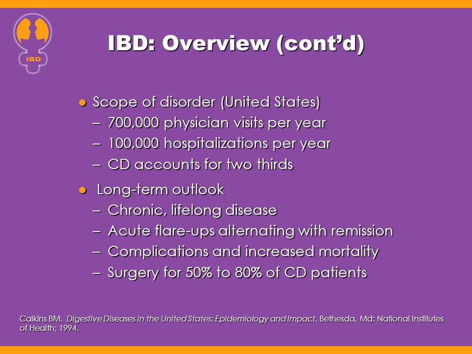 IBD: Overview (cont'd)