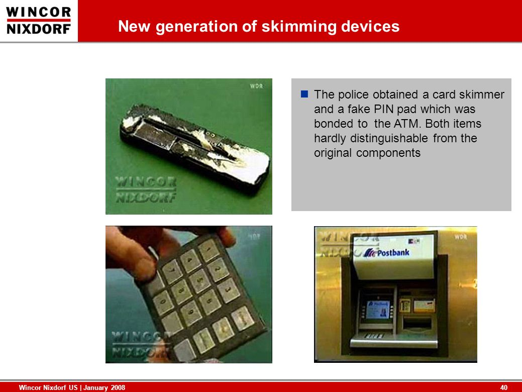 New generation of skimming devices