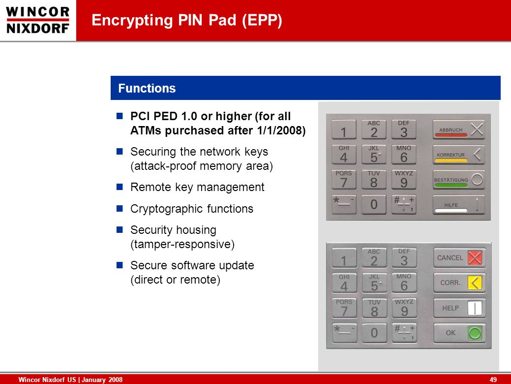 Encrypting PIN Pad (EPP)