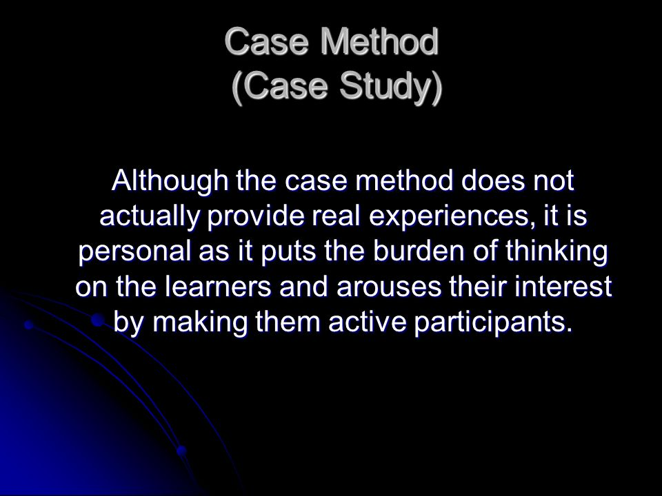 Case Method (Case Study)