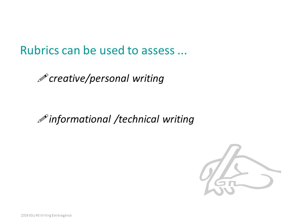 Rubrics can be used to assess ...
