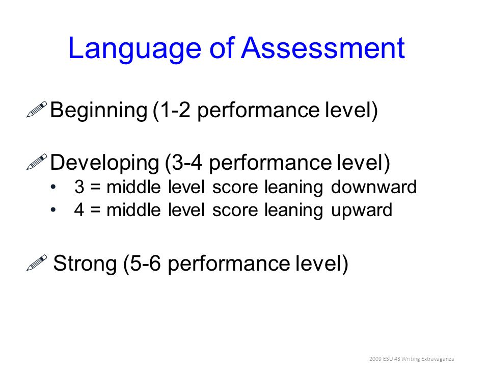 Language of Assessment