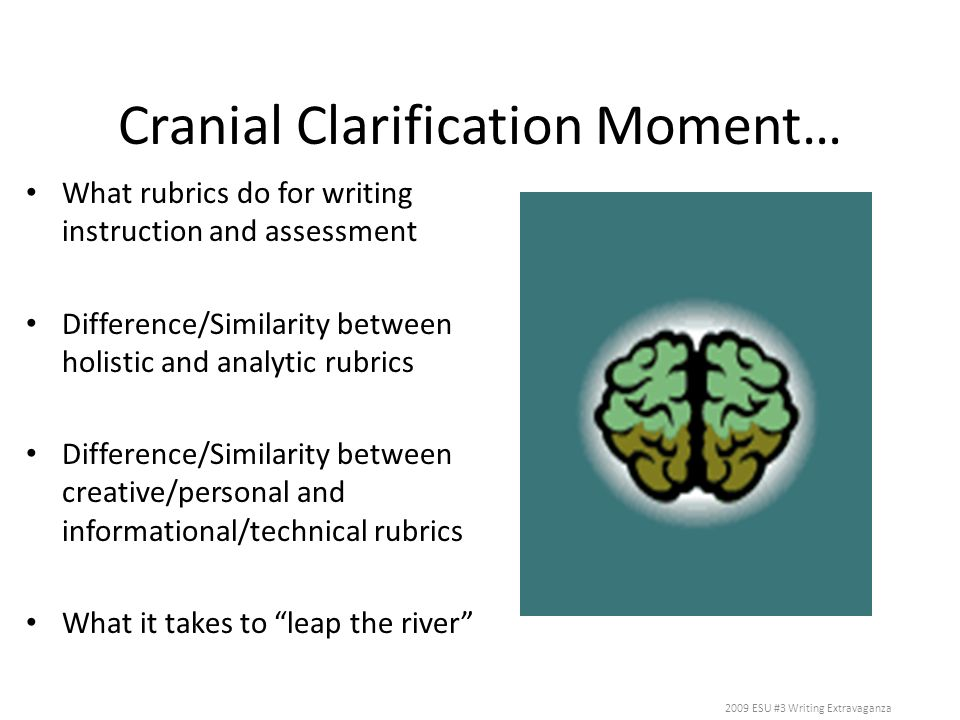 Cranial Clarification Moment…