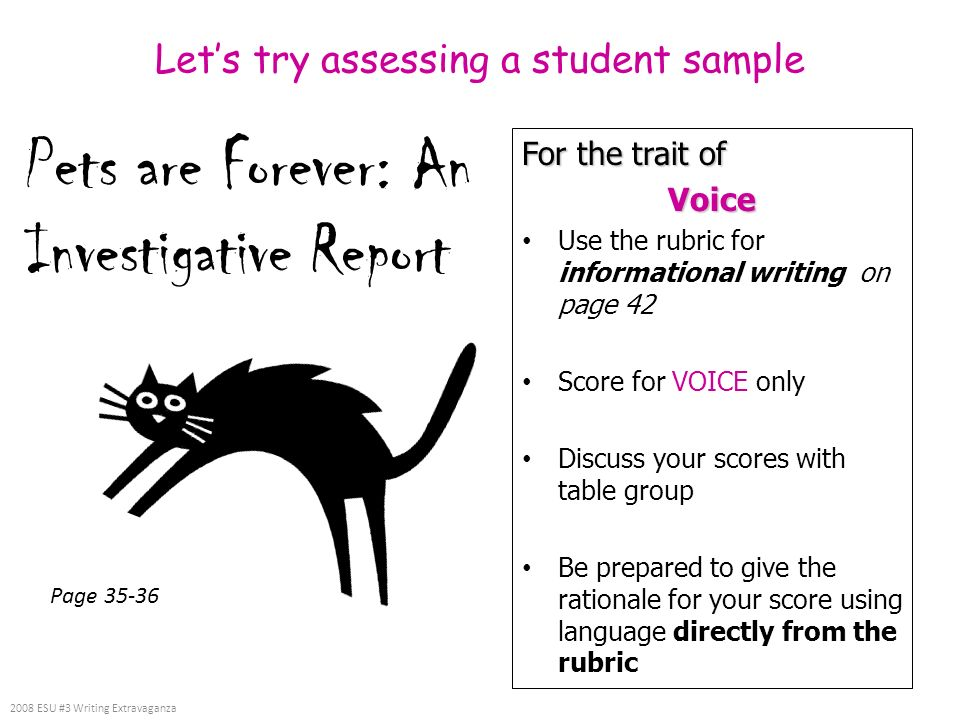 Let's try assessing a student sample