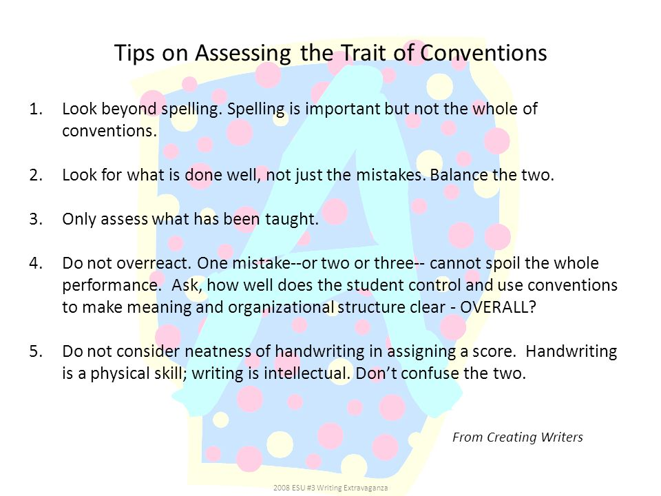 Tips on Assessing the Trait of Conventions