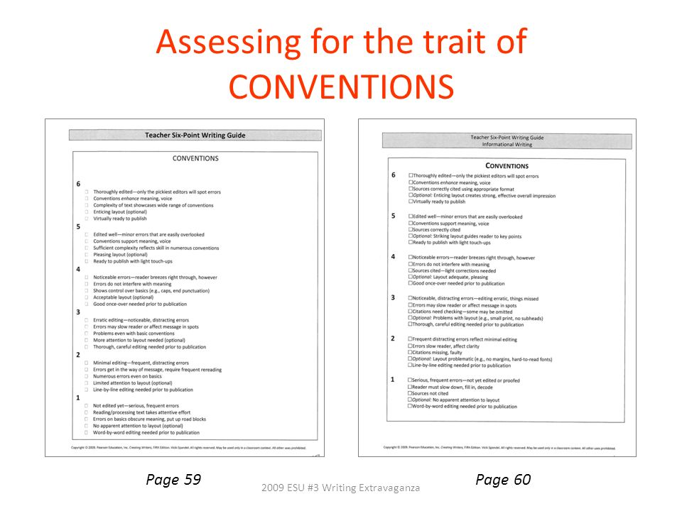 Assessing for the trait of CONVENTIONS