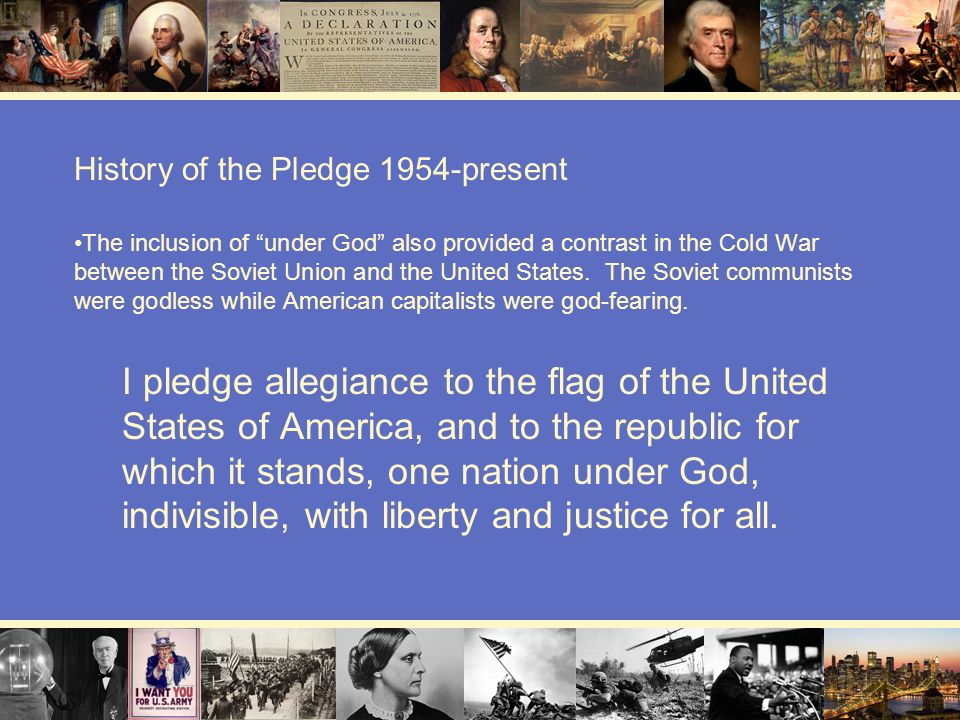 History of the Pledge 1954-present