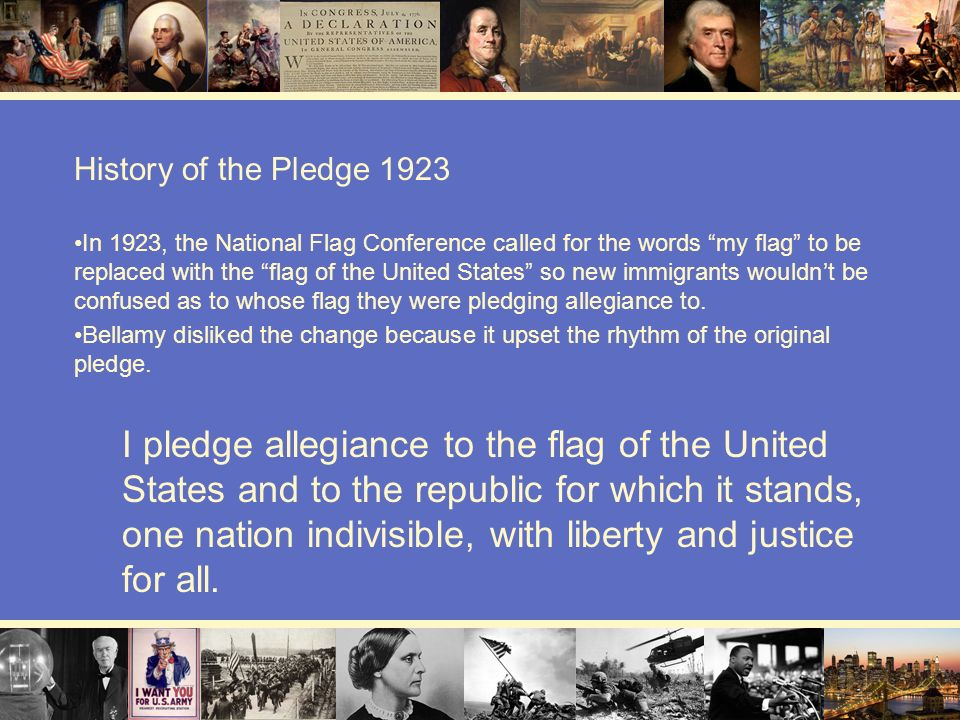 History of the Pledge 1923