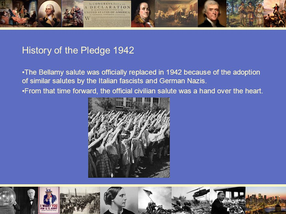 History of the Pledge 1942