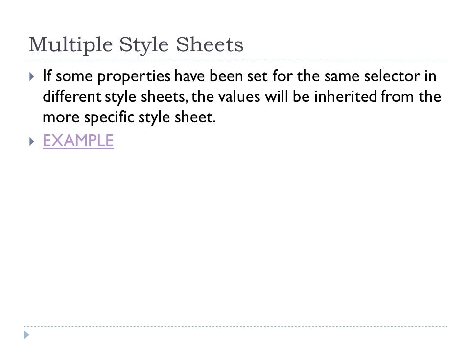 Multiple Style Sheets