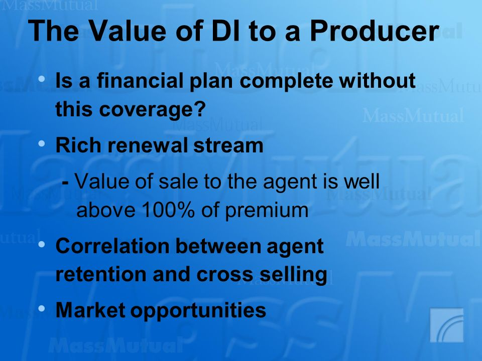 The Value of DI to a Producer