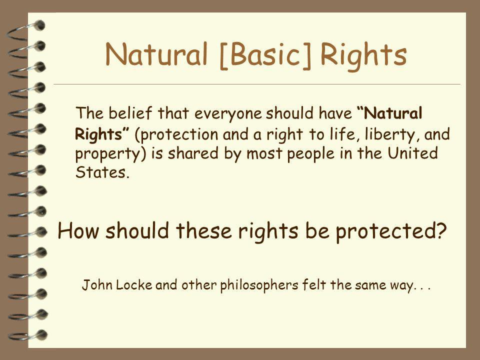 Natural [Basic] Rights