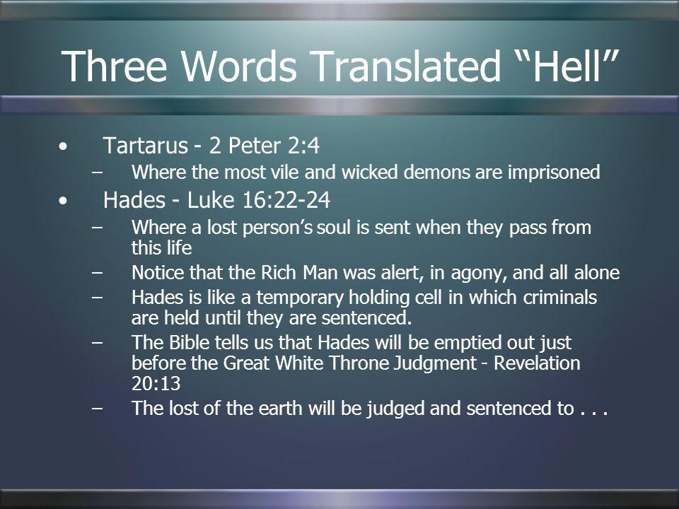 Three Words Translated Hell