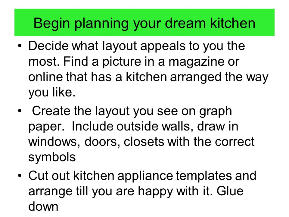 Begin planning your dream kitchen
