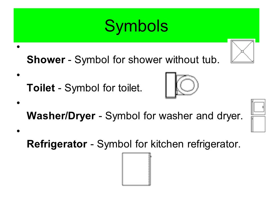 Symbols Shower - Symbol for shower without tub.