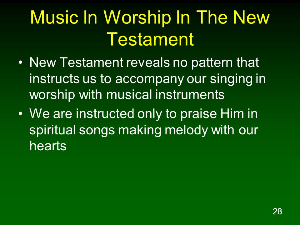 Music In Worship In The New Testament
