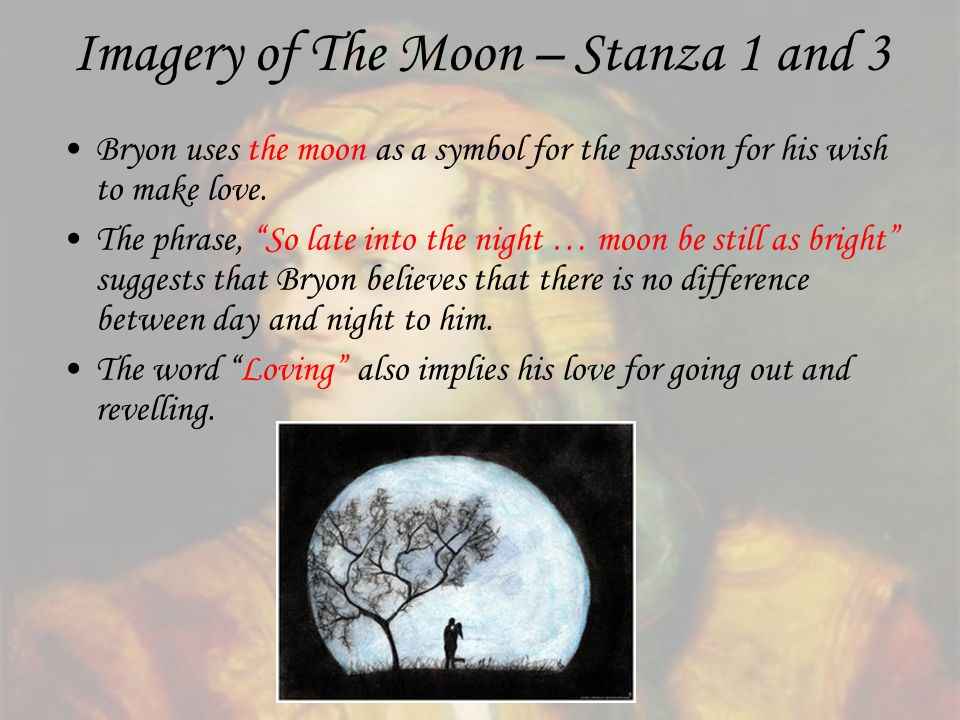 Imagery of The Moon – Stanza 1 and 3