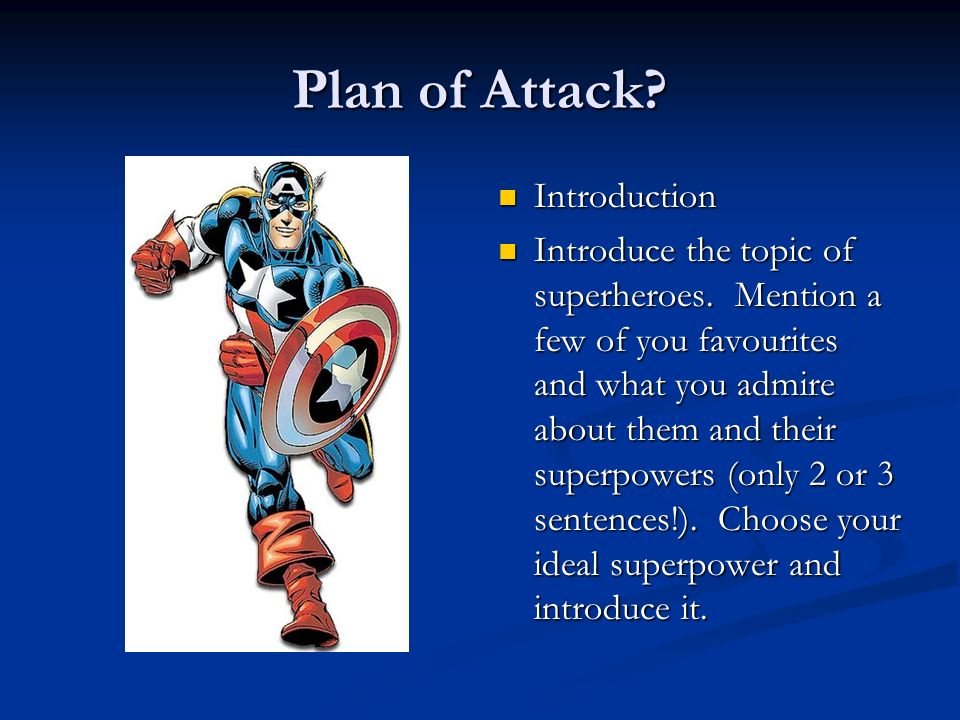 Plan of Attack Introduction