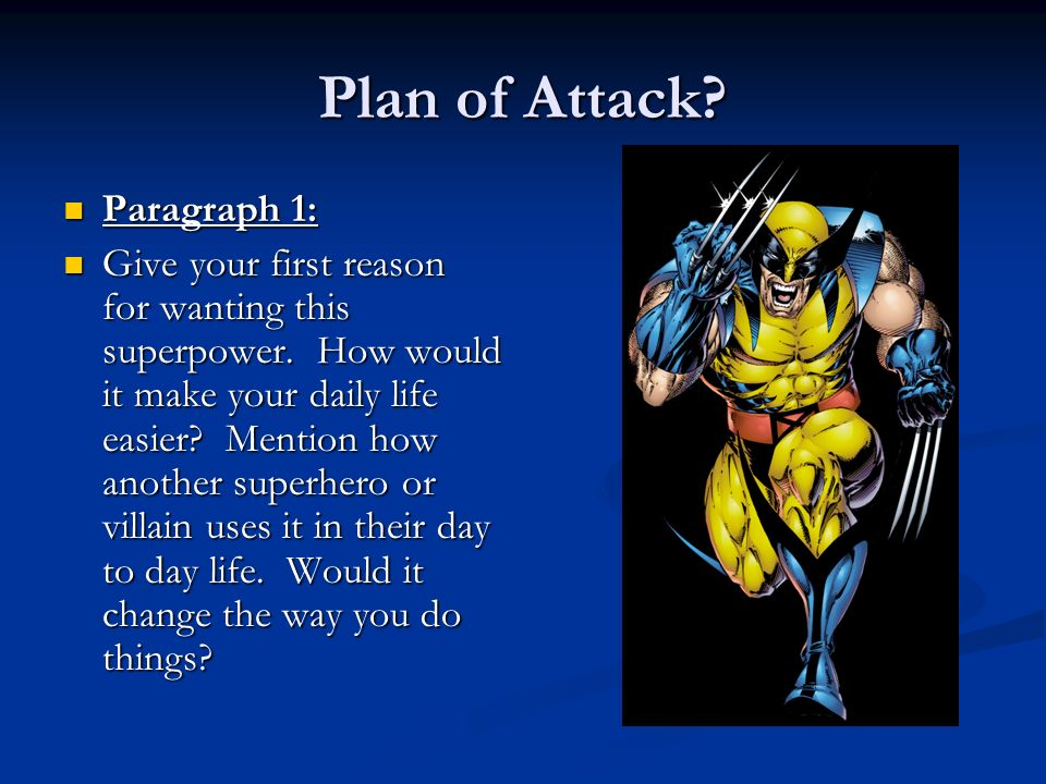 Plan of Attack Paragraph 1: