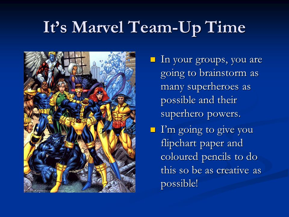 It's Marvel Team-Up Time