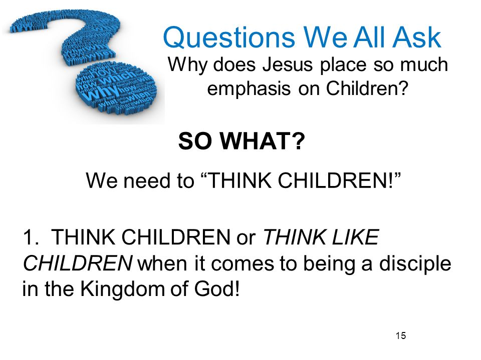 We need to THINK CHILDREN!
