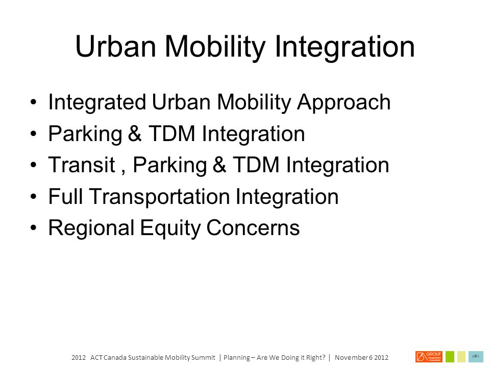 Urban Mobility Integration