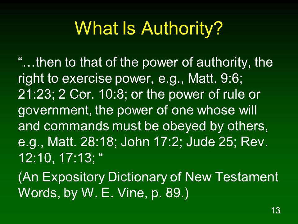 What Is Authority