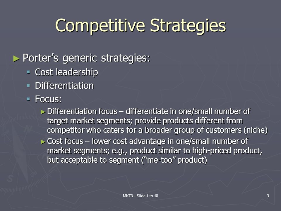 Competitive Strategies