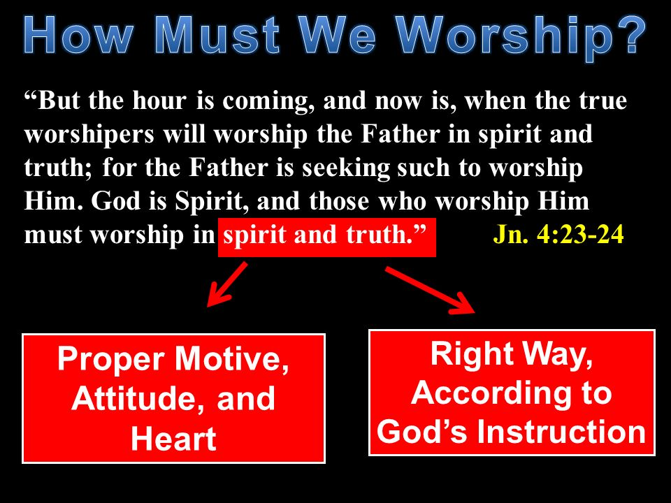 How Must We Worship Proper Motive, Attitude, and Heart