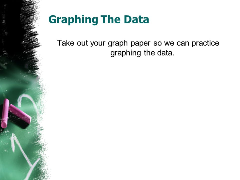Take out your graph paper so we can practice graphing the data.